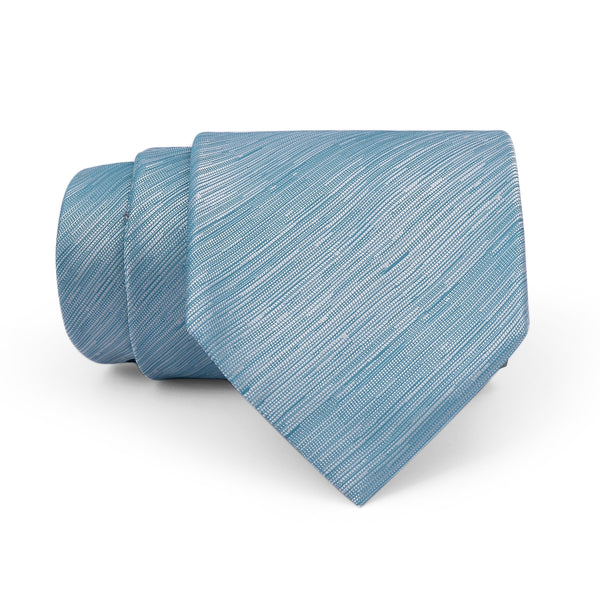 Aqua Blue Self Textured Regular Tie