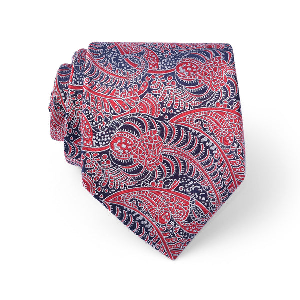 Multi Paisley Crimson Regular Tie