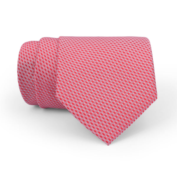 Red And White Pattern Regular Tie