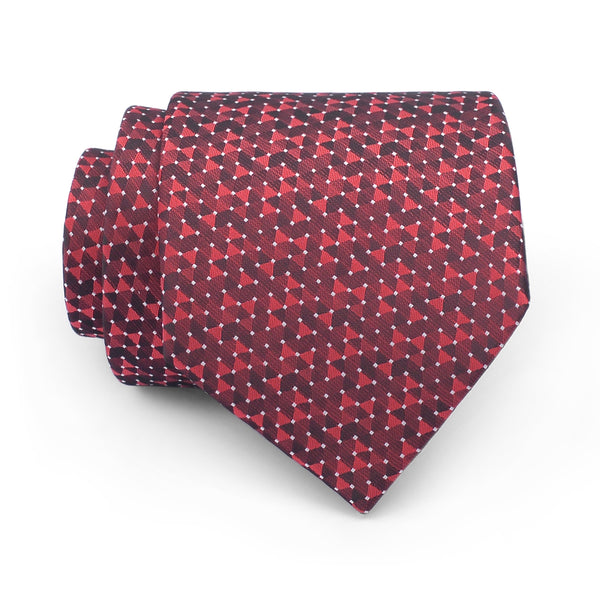 Crimson Self Pattern Regular Tie