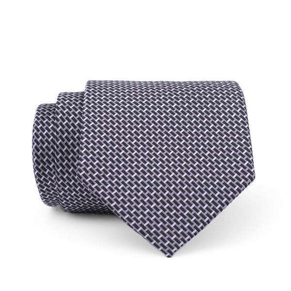 Multi Pattern On Black Regular Tie