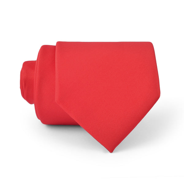 Dark Red Plain Regular Tie