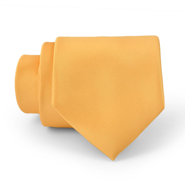 Mustard Plain Regular Tie