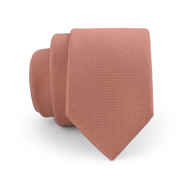 Rust Self Dotted Slim Tie