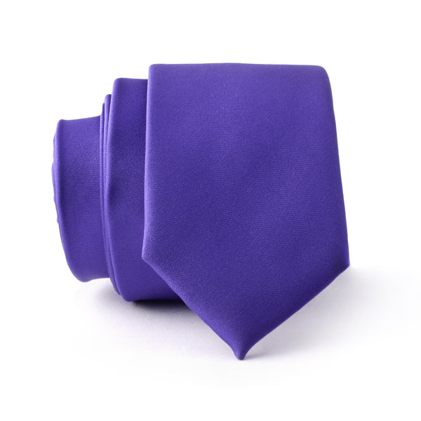 Purple Plain Slim Tie