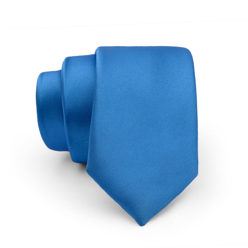 Aqua Blue Plain Slim Tie