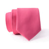Dark Pink Plain Slim Tie