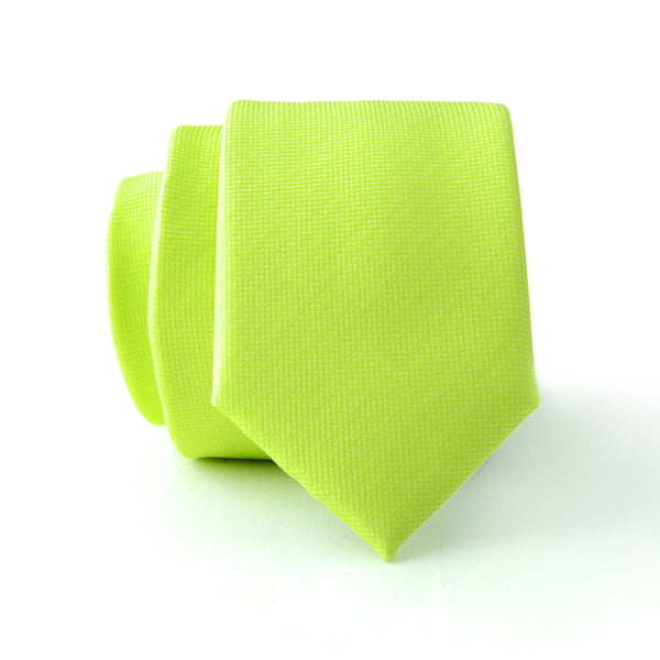 Light Green Plain Slim Tie