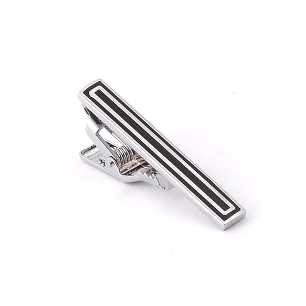 Black And Silver Tie Pin