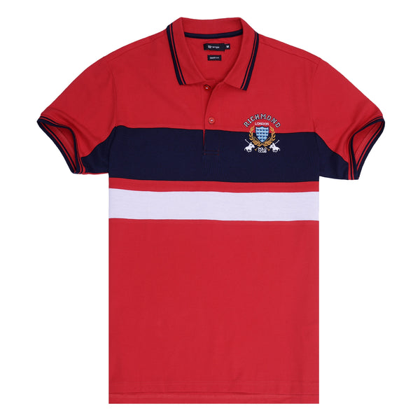 Red And Navy Blue Polo T-Shirt