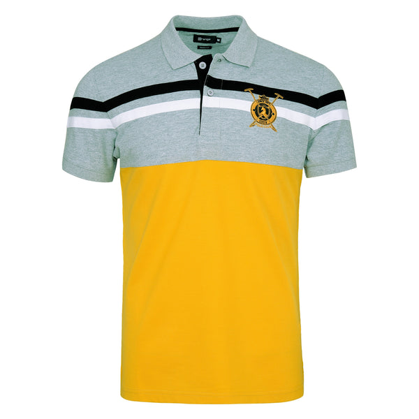 Grey And Yellow Polo T-Shirt TS1900-5-L