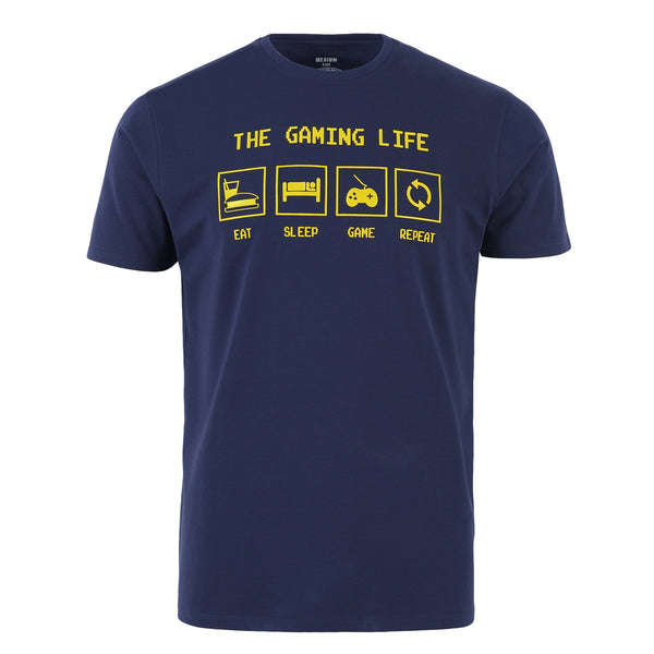 """The Gaming Life"" Navy Blue Tee-L"