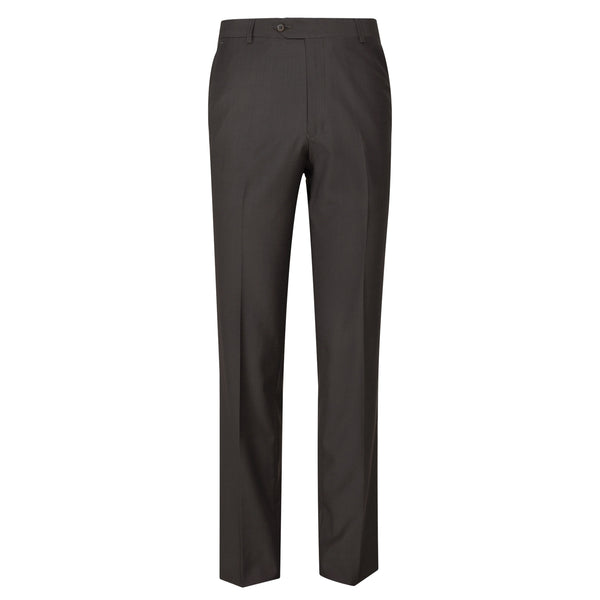 Olive Plain Regular Fit Formal Trouser-34