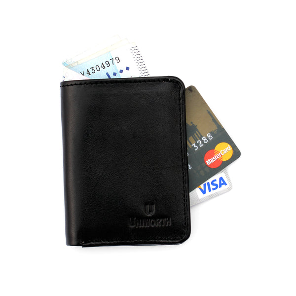Black Premium Leather Card Holder And Wallet