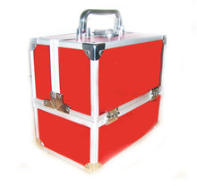 Load image into Gallery viewer, Sparkling Red Beauty Cosmetic Case Box
