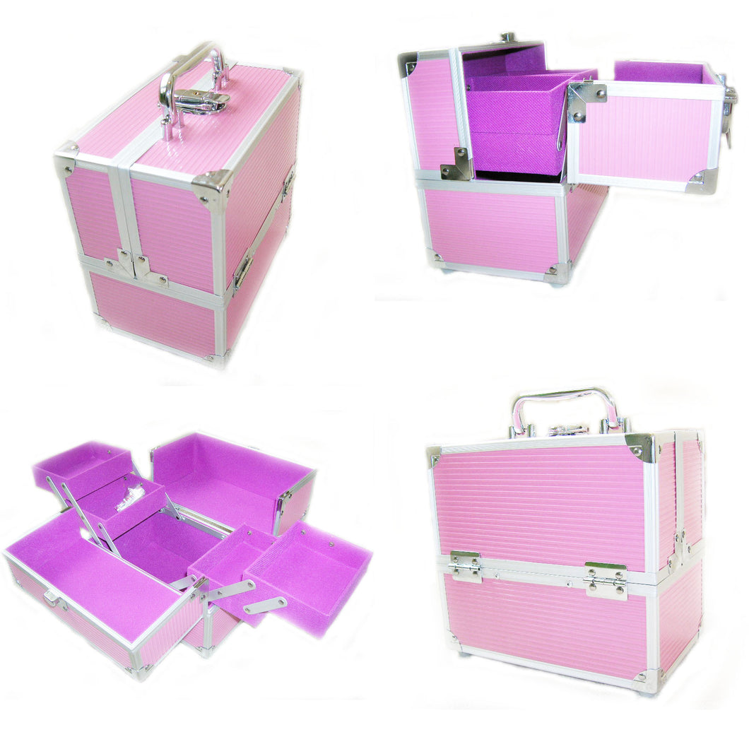 Small Pink Locking Beauty Case