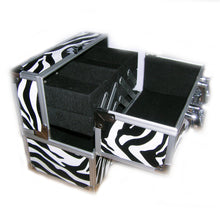 Load image into Gallery viewer, Miami Zebra Small Locking Beauty Case