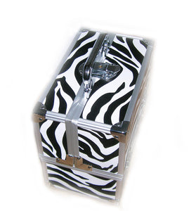 Miami Zebra Small Locking Beauty Case