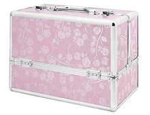 Load image into Gallery viewer, Large Pink Rose Locking Beauty Case