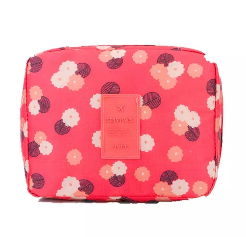 Raspberry Travel Cosmetic Wash Bag