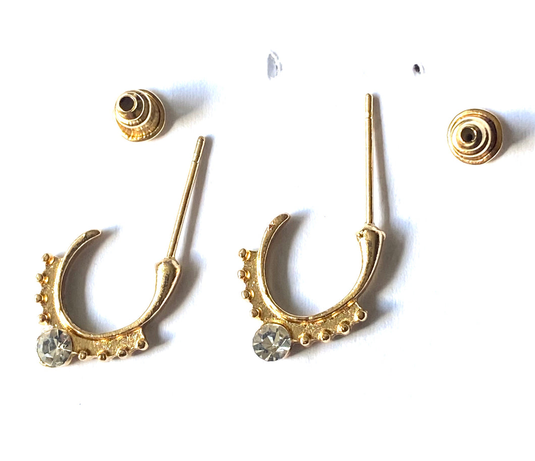 Hoop Diamond Style Earrings