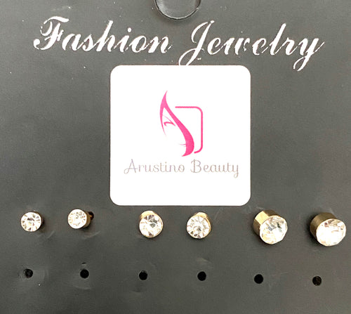 Diamond Effect Stud Earrings