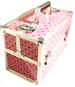 Large Pink Heart cosmetic Beauty Case