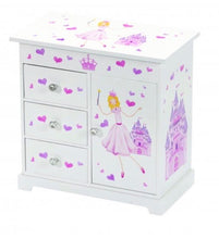 Load image into Gallery viewer, Childrens Princess Musical Jewellery Box