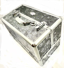 Load image into Gallery viewer, Large Silver Rose Beauty Case box