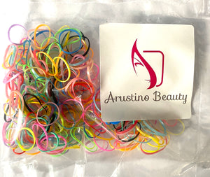 Multicolour Elastic Hair Bands 200 Pack
