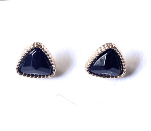 Black Triangular Shape Earrings