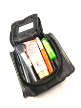 Load image into Gallery viewer, Small Black Cosmetic Travel Bag Case With Mirror And Zipper