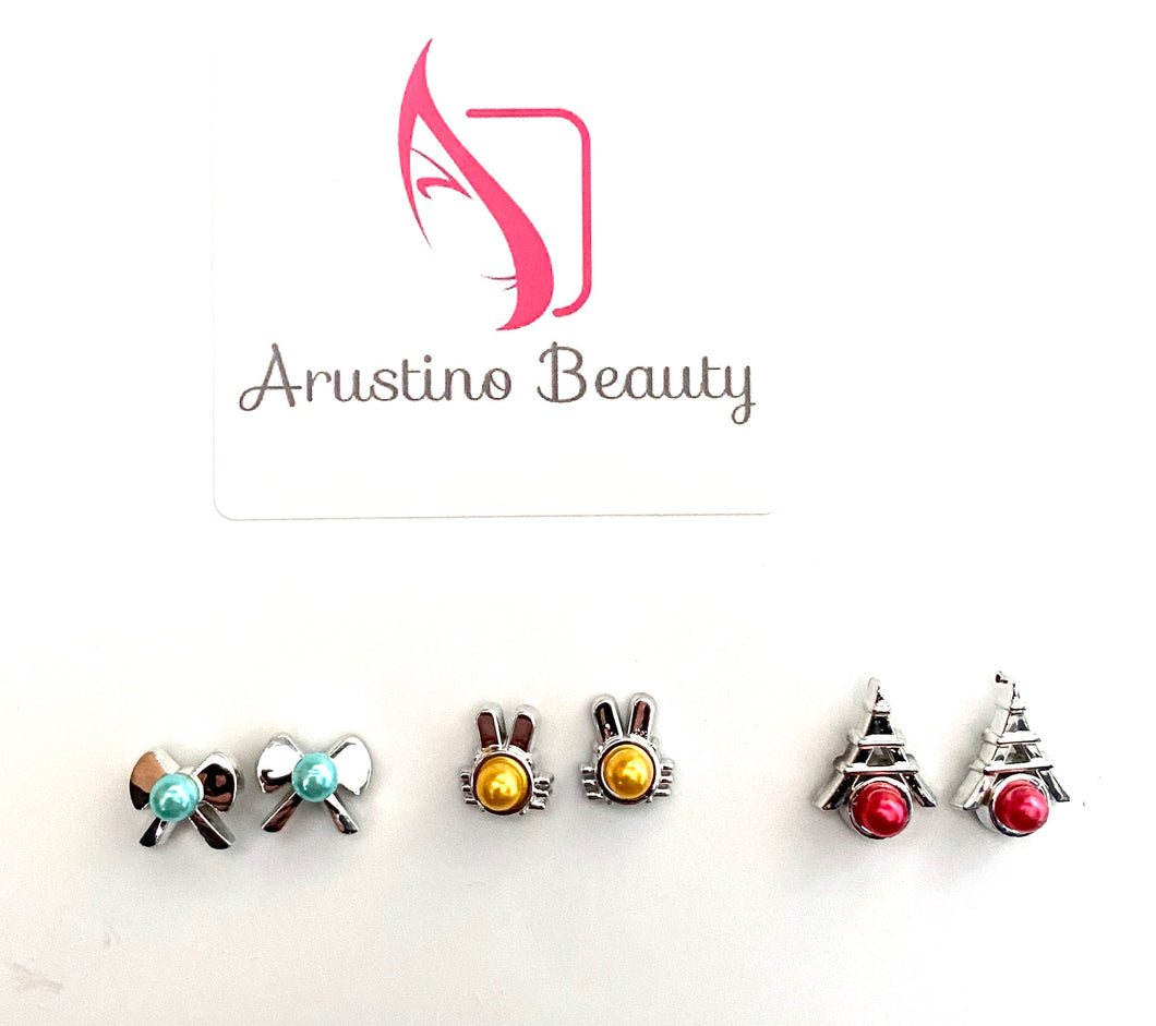 Set of 3 Pairs Fashion Party Stud Earrings