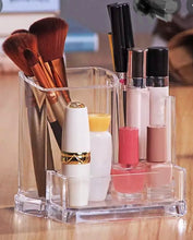 Load image into Gallery viewer, Small Transparent Acrylic Makeup Brush Storage Box Organiser