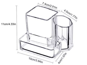 Small Transparent Acrylic Makeup Brush Storage Box Organiser
