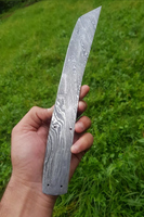 Hand Forged Damascus Steel Tanto Hunting Blank Knife Full Tang AH-1066