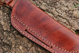 CUSTOM HAND MADE PURE LEATHER SHEATH FOR FIXED BLADE KNIFE AH-948