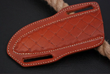 Double Stitch Hand Made Pure Leather Sheath For Dagger Boot & Chris Blade Knife AH-1189