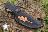 CUSTOM MADE PURE LEATHER HAND ENGRAVED SHEATH FOR FIXED BLADE KNIFE AH-950
