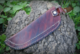 CUSTOM MADE PURE LEATHER HAND ENGRAVED SHEATH FOR FIXED BLADE  KNIFE AH-985