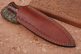 "8""Custom Hand Made Pure Leather Sheath For Dagger Blade Knife AH-1295"