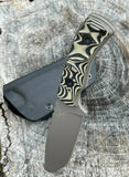 "8"" Tactical FIXED BLADE D2 Survival Knife with Kydex 2 mm Sheath titanium coated paint"