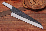 1095 Custom Hand Forged Railroad Spike Blank Blade Chef Knife AH-1218
