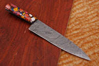 Hand Forged Damascus Steel Chef Knife With Risen Handle AH-1348