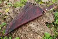 Hand Made Pure Leather Hand Engraved Sheath For Fixed Blades AH-933