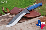 Custom Hand Made 1095 Steel Kukri Hunting Knife With Wood Handle AH-1632