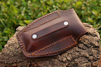 Hand Made Pure Leather Sheath For Folding Knife AH-1313