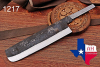 1095 Hand Forged Railroad Spike Blank Blade Meat Cleaver Knife AH-1217