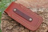 Hand Made Pure Leather Hand Engraved Sheath For Folding Blades AH-1331
