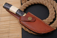 Custom Hand Forged Damascus Steel Hunting Knife With Wood Handle And Brass Guard AH-1642